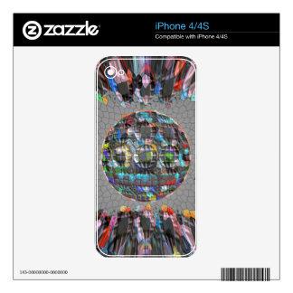 Digitally painted Artistic Diamond iPhone 4S Decal