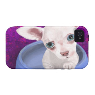 Digitally Painted Chihuahua Puppy in a Jar Case For The iPhone 4