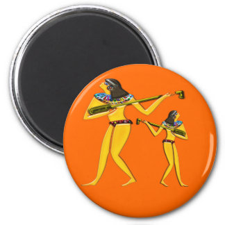Digitally Painted; Early Egyptian Greeting Card... 2 Inch Round Magnet