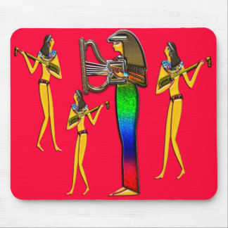 Digitally Painted; Early Egyptian two Photo Scu... Mouse Pad