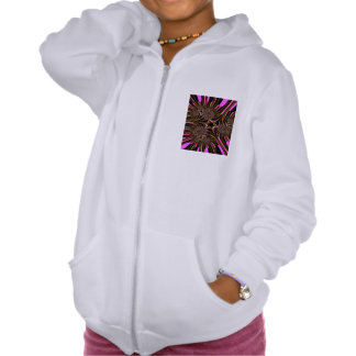 Digitally rendered  fractal features and abstract pullover