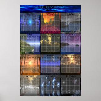 DigitalRepose.com 2003 Wall Calendar Poster