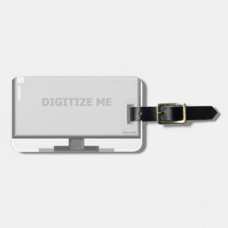 digitize me luggage tag