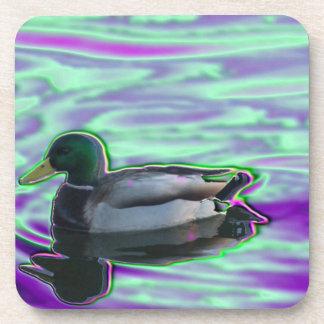 Digitized Duck Beverage Coaster