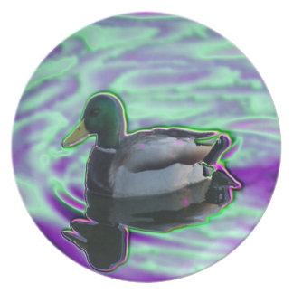 Digitized Duck Melamine Plate