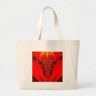 Digitla arts red large tote bag