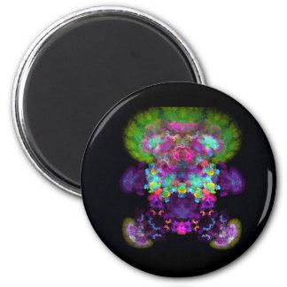 dígito al azar abstracto del fractal del muñeca-co imán redondo 5 cm
