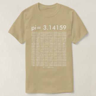 dígitos del día de la moda pi de la ciencia de la playera