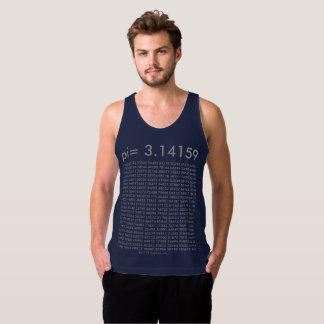 dígitos del día de la moda pi de los azules playera de tirantes