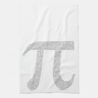 Dígitos del pi toallas de cocina