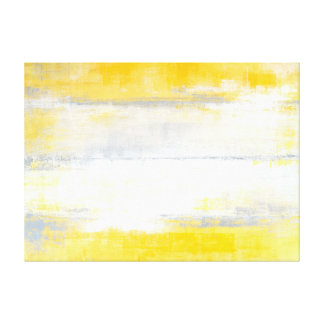 'Digits' Grey and Yellow Abstract Art Canvas Print