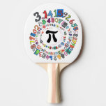 Digits of Pi Form a Colorful Spiral Ping-Pong Paddle