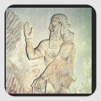 Dignatario, alivio, asirio pegatina cuadradas personalizada