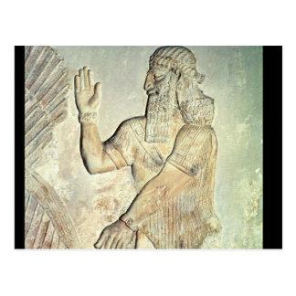 Dignatario, alivio, asirio postal