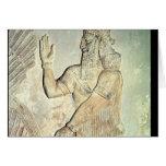 Dignatario, alivio, asirio tarjeton