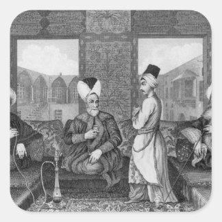 Dignatarios del otomano colcomanias cuadradass