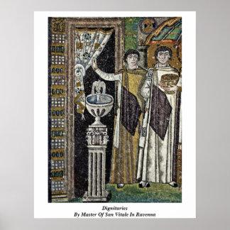 Dignatarios por el amo de San Vitale en Ravena Poster
