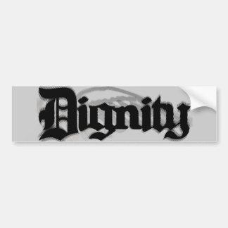 Dignidad Etiqueta De Parachoque