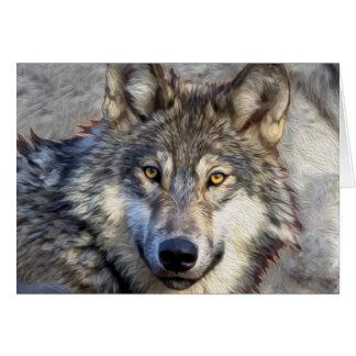 Dignidad del lobo gris tarjeta de felicitación