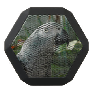 Dignified African Grey Parrot Black Bluetooth Speaker