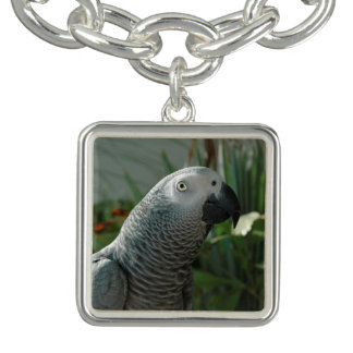 Dignified African Grey Parrot Charm Bracelets