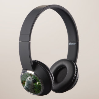 Dignified African Grey Parrot Headphones