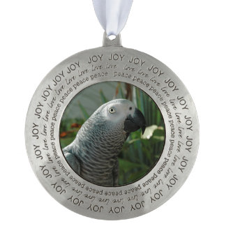 Dignified African Grey Parrot Ornament