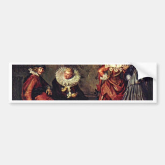 Dignified Courting Couples. By Willem Pietersz. Car Bumper Sticker