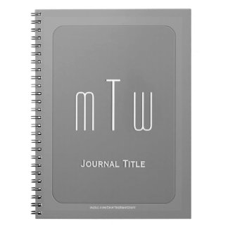 Dignified Monogram - Warm Gray Notebook