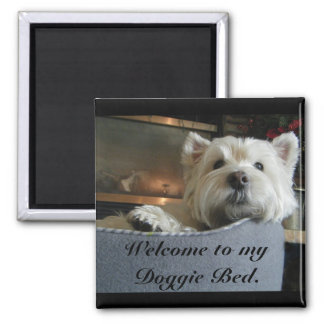 Dignified Westie Photo Magnet