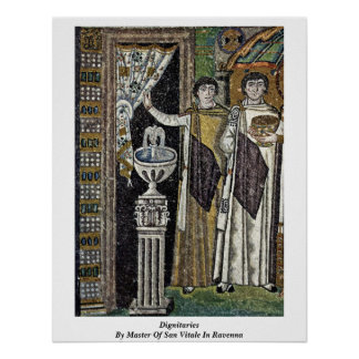 Dignitaries By Master Of San Vitale In Ravenna Posters