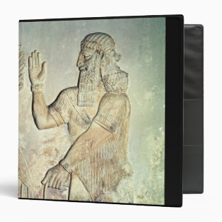 Dignitary, relief, Assyrian 3 Ring Binder