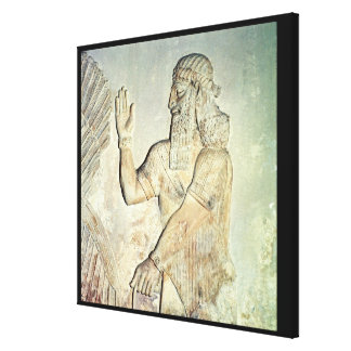 Dignitary, relief, Assyrian Canvas Print