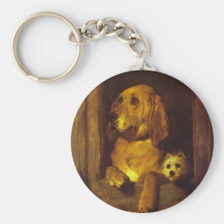 Dignity and Impudence by Edwin Henry Landseer Keychain