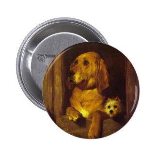 Dignity and Impudence by Edwin Henry Landseer Pinback Button