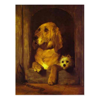 Dignity and Impudence by Edwin Henry Landseer Postcard