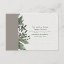 Dignity - Bereavement Thank You Notecard