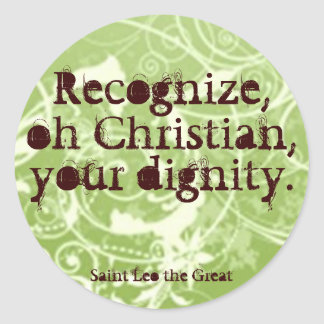 Dignity Classic Round Sticker