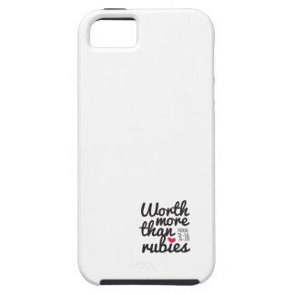 Digno de más que el caso del iPhone de los rubíes iPhone 5 Protector