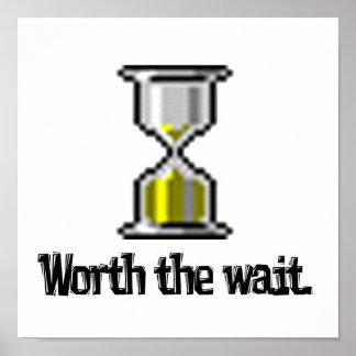 digno del icono del reloj de arena de la PC de la  Póster