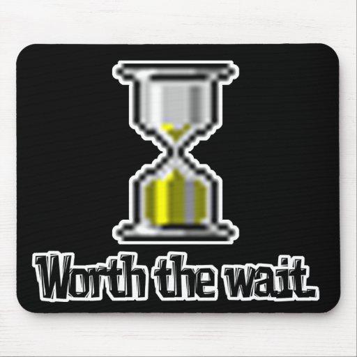 digno del icono del reloj de arena de la PC de la  Alfombrilla De Ratón