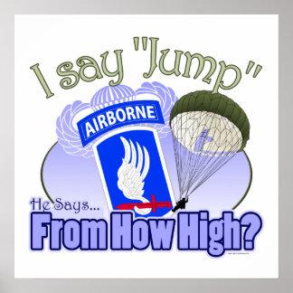 Digo el salto [173o aerotransportado] póster