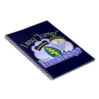 Digo el salto [las fuerzas especiales] libros de apuntes con espiral