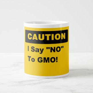 Digo no a la taza del jumbo de GMO Taza Grande