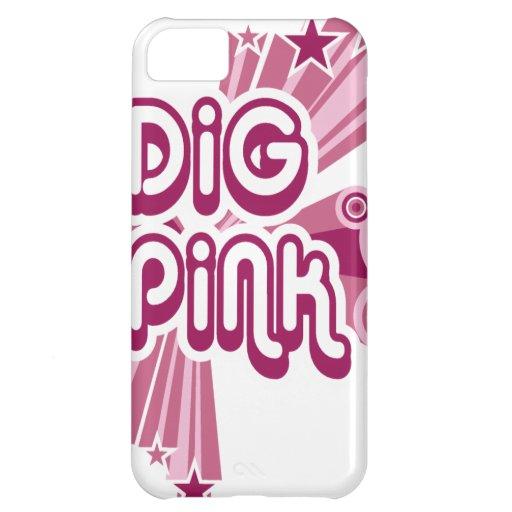 digPink pink ribbon cancer awareness iPhone 5C Cover
