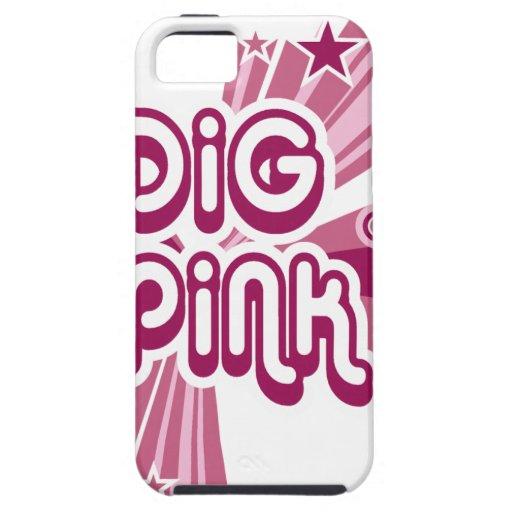 digPink pink ribbon cancer awareness iPhone 5 Case