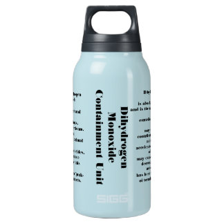 Dihydrogen monoxide 10 oz insulated SIGG thermos water bottle