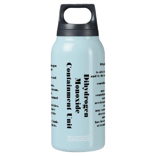 55f981b1ee Dihydrogen monoxide insulated water bottle | Zazzle.com