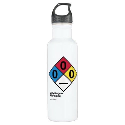 Dihydrogen Monoxide NFPA Safety Label Water Bottle