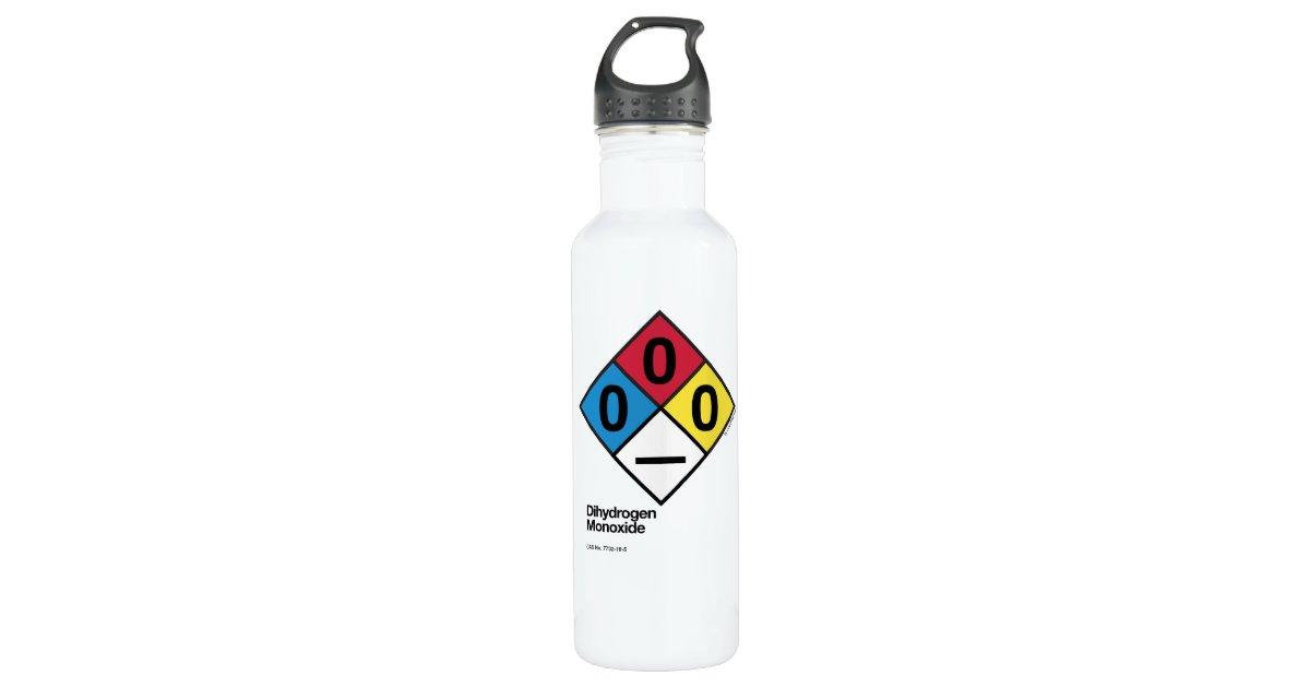 c37b034bf8 Dihydrogen Monoxide NFPA Safety Label Water Bottle | Zazzle.com